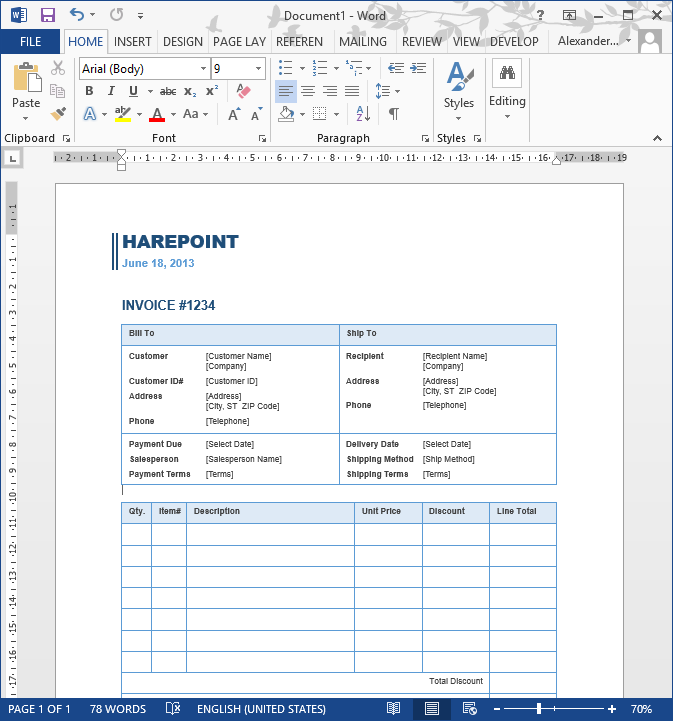 sharepoint workflow creates invoices with variable number of items. Black Bedroom Furniture Sets. Home Design Ideas