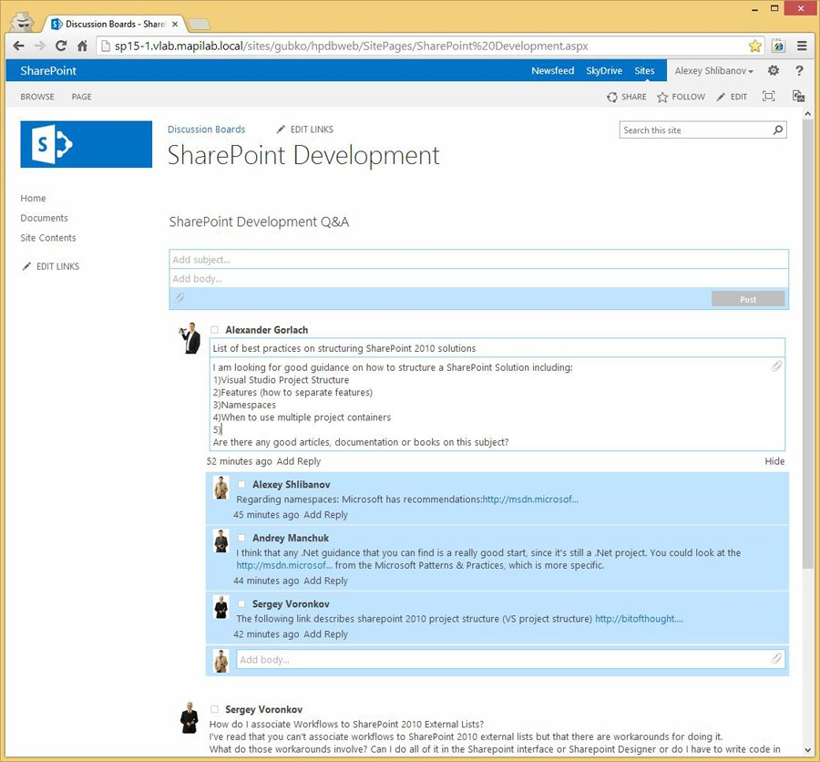 HarePoint Discussion Board For SharePoint Screenshots