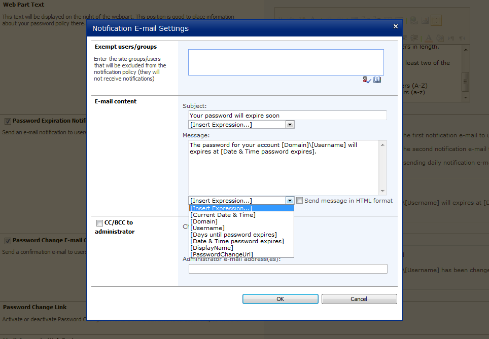 how to change access point password