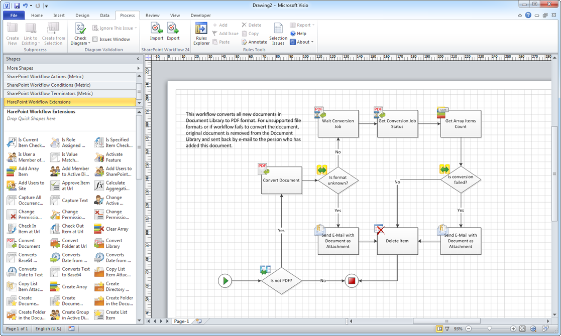 Visio Workflow Template. microsoft visio 2010 selecting a ...