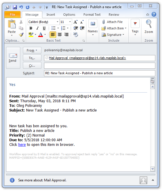 Approval By Email Sharepoint Workflow Sample