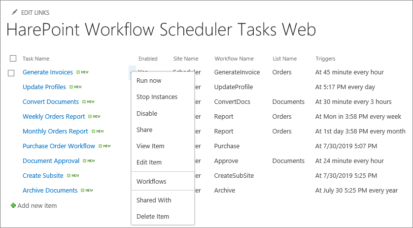 Run SharePoint workflow on schedule